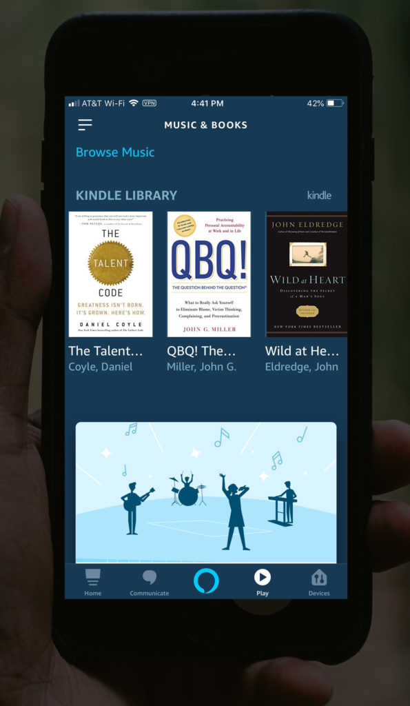 alexa app see kindle