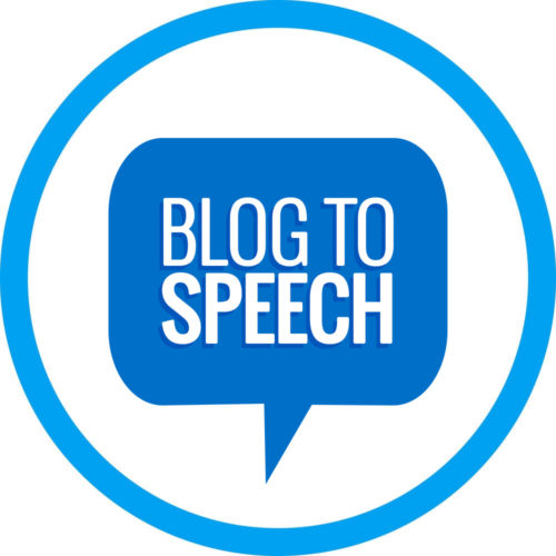 Blog to Speech service