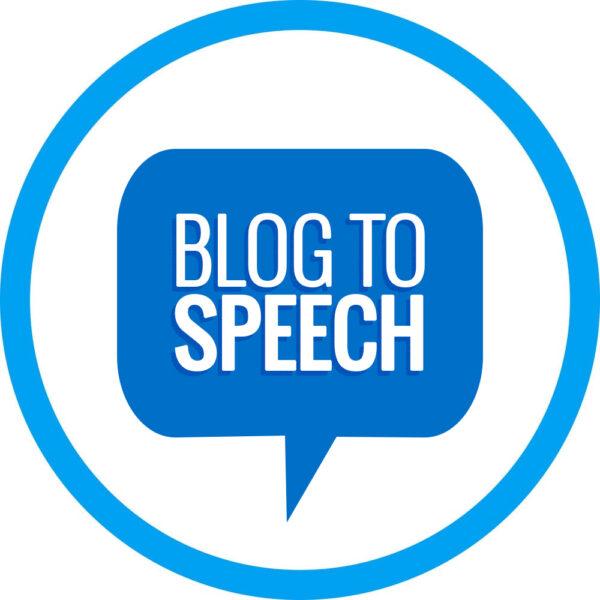 Blog to Speech service